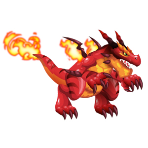 An image of the firesaur Monster in adult form