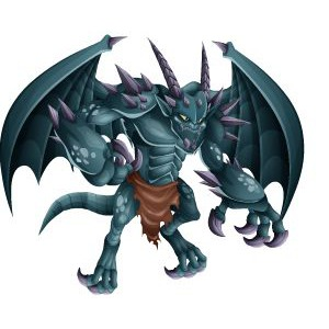 An image of the greygoyle Monster in adult form
