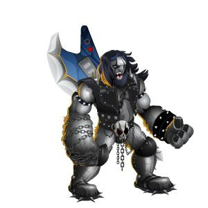 An image of the metalhead Monster in adult form