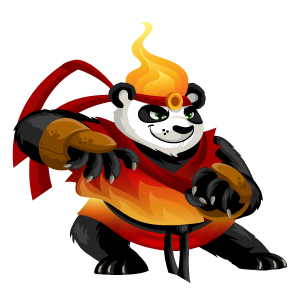 An image of the pandaken Monster in adult form