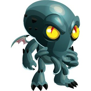 An image of the cthulhu Monster in child form