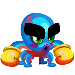 An image of the dolphchamp Monster in child form
