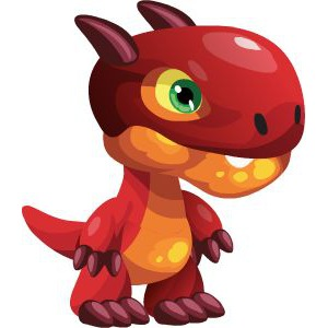 An image of the firesaur Monster in child form