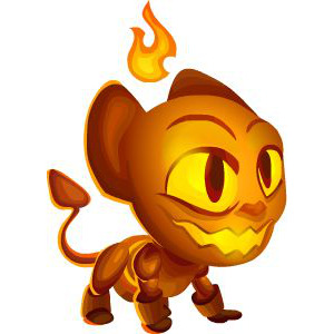 An image of the firesque Monster in child form