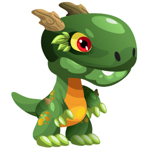An image of the greenasaur Monster in child form