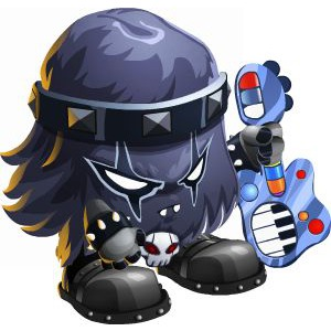 An image of the metalhead Monster in child form