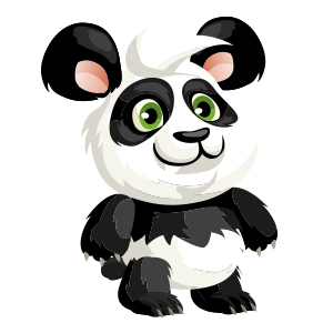 An image of the panda Monster in child form