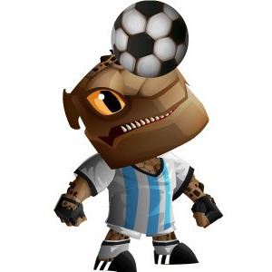 An image of the rockadona Monster in child form