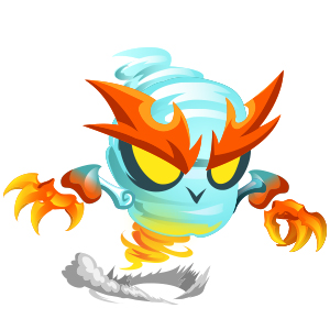 An image of the vapwhirl Monster in child form