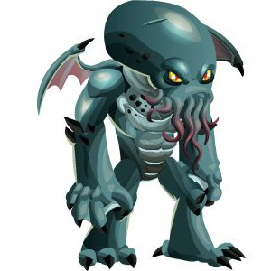 An image of the cthulhu Monster in youth form