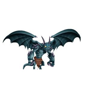 An image of the greygoyle Monster in youth form