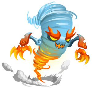 An image of the vapwhirl Monster in youth form
